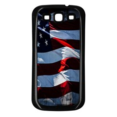 Grunge American Flag Background Samsung Galaxy S3 Back Case (black) by Simbadda