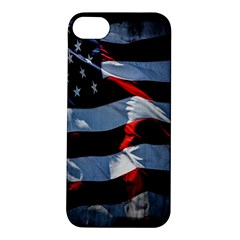 Grunge American Flag Background Apple Iphone 5s/ Se Hardshell Case by Simbadda