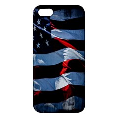 Grunge American Flag Background Iphone 5s/ Se Premium Hardshell Case by Simbadda
