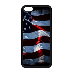 Grunge American Flag Background Apple Iphone 5c Seamless Case (black) by Simbadda