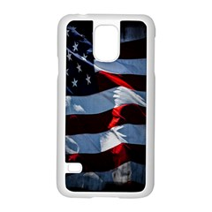 Grunge American Flag Background Samsung Galaxy S5 Case (white) by Simbadda