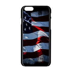 Grunge American Flag Background Apple Iphone 6/6s Black Enamel Case by Simbadda