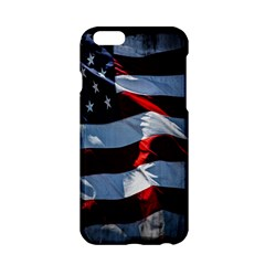 Grunge American Flag Background Apple Iphone 6/6s Hardshell Case by Simbadda
