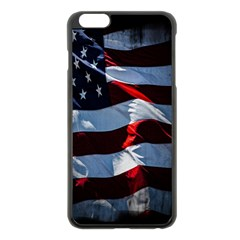 Grunge American Flag Background Apple Iphone 6 Plus/6s Plus Black Enamel Case by Simbadda