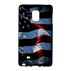 Grunge American Flag Background Galaxy Note Edge by Simbadda