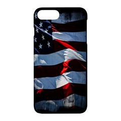 Grunge American Flag Background Apple Iphone 7 Plus Hardshell Case by Simbadda