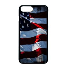 Grunge American Flag Background Apple Iphone 7 Plus Seamless Case (black) by Simbadda