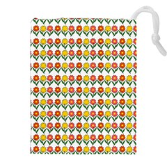 Flowers Drawstring Pouches (xxl) by Valentinaart
