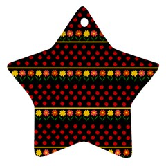 Ladybugs And Flowers Star Ornament (two Sides) by Valentinaart