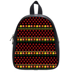 Ladybugs And Flowers School Bags (small)  by Valentinaart