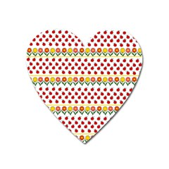 Ladybugs And Flowers Heart Magnet by Valentinaart