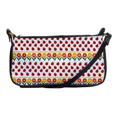 Ladybugs And Flowers Shoulder Clutch Bags by Valentinaart