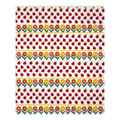 Ladybugs And Flowers Shower Curtain 60  X 72  (medium)  by Valentinaart