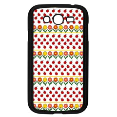 Ladybugs And Flowers Samsung Galaxy Grand Duos I9082 Case (black) by Valentinaart
