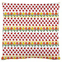 Ladybugs And Flowers Standard Flano Cushion Case (one Side) by Valentinaart