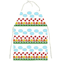 Ladybugs And Flowers Full Print Aprons by Valentinaart