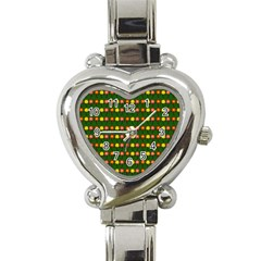 Flowers Heart Italian Charm Watch by Valentinaart