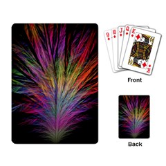 Fractal In Many Different Colours Playing Card by Simbadda