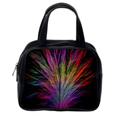 Fractal In Many Different Colours Classic Handbags (one Side) by Simbadda