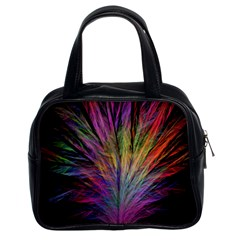 Fractal In Many Different Colours Classic Handbags (2 Sides) by Simbadda