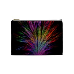 Fractal In Many Different Colours Cosmetic Bag (medium)  by Simbadda
