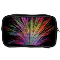 Fractal In Many Different Colours Toiletries Bags 2 Side
