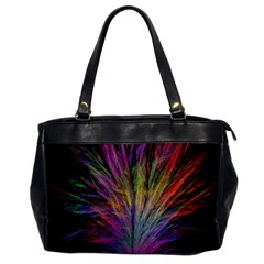 Fractal In Many Different Colours Office Handbags by Simbadda