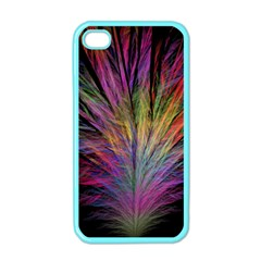 Fractal In Many Different Colours Apple Iphone 4 Case (color) by Simbadda