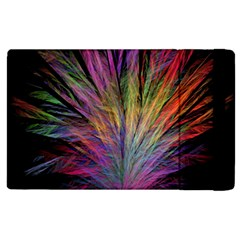 Fractal In Many Different Colours Apple Ipad 2 Flip Case by Simbadda