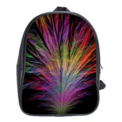 Fractal In Many Different Colours School Bags (xl)  by Simbadda
