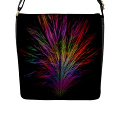 Fractal In Many Different Colours Flap Messenger Bag (l)