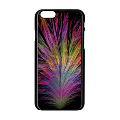 Fractal In Many Different Colours Apple Iphone 6/6s Black Enamel Case by Simbadda