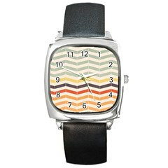 Abstract Vintage Lines Square Metal Watch by Simbadda
