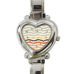 Abstract Vintage Lines Heart Italian Charm Watch by Simbadda