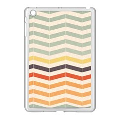 Abstract Vintage Lines Apple Ipad Mini Case (white)