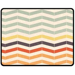 Abstract Vintage Lines Double Sided Fleece Blanket (medium)