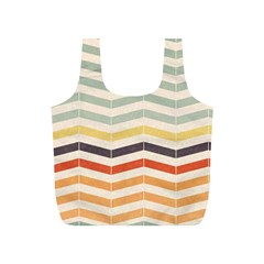 Abstract Vintage Lines Full Print Recycle Bags (s)  by Simbadda