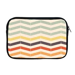 Abstract Vintage Lines Apple Macbook Pro 17  Zipper Case by Simbadda