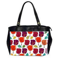 Colorful Trees Background Pattern Office Handbags (2 Sides)  by Simbadda