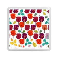 Colorful Trees Background Pattern Memory Card Reader (square)