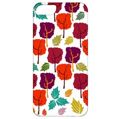 Colorful Trees Background Pattern Apple Iphone 5 Classic Hardshell Case by Simbadda