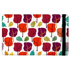 Colorful Trees Background Pattern Apple Ipad 3/4 Flip Case by Simbadda