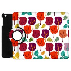 Colorful Trees Background Pattern Apple Ipad Mini Flip 360 Case