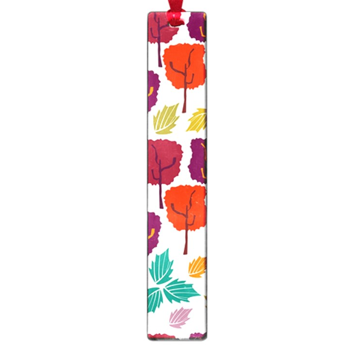 Colorful Trees Background Pattern Large Book Marks