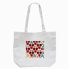Colorful Trees Background Pattern Tote Bag (white) by Simbadda