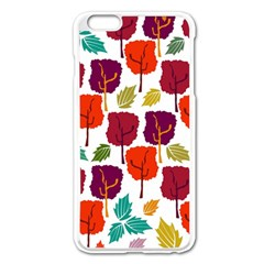 Colorful Trees Background Pattern Apple Iphone 6 Plus/6s Plus Enamel White Case