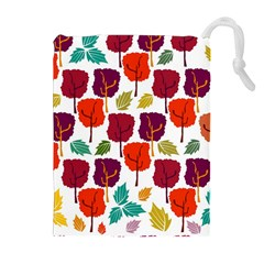 Colorful Trees Background Pattern Drawstring Pouches (extra Large) by Simbadda