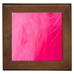 Very Pink Feather Framed Tiles by Simbadda