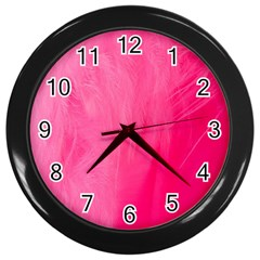 Very Pink Feather Wall Clocks (black) by Simbadda
