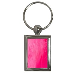 Very Pink Feather Key Chains (rectangle)  by Simbadda